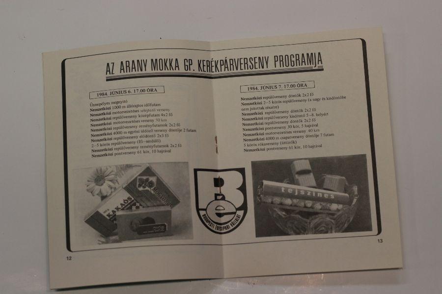 2. Kép: Arany Mokka XIII. G.P. 1985 Június 12-13 FTC
