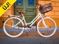 Rusztikus stílusú egyedi női városi kerékpár